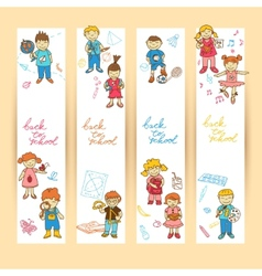Set of banners with kids vector image vector image