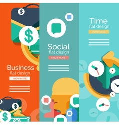 Set of flat design universal web concepts vector image