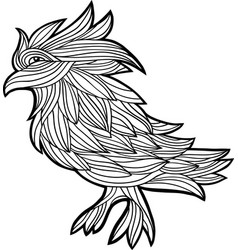 Decorative graphic with a bird vector