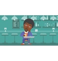 Man sitting at bar vector image vector image