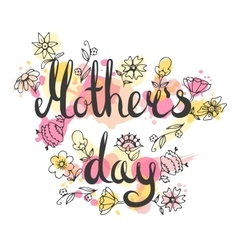 Mothers day lettering card Modern calligraphy vector image