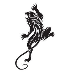 panther tattoo vintage engraving vector image vector image