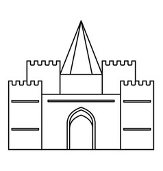 royal castle icon outline style vector image