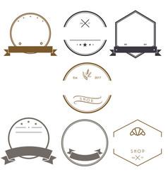 vintage logos design templates logotype set design vector image vector image