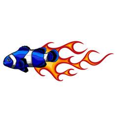 a clownfish design art vector image