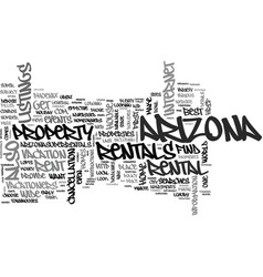 arizona the host of great events text word cloud vector image