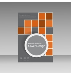 Book cover layout design Abstract flyer templates vector