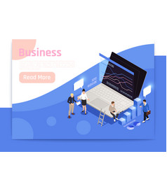 business office page design vector image