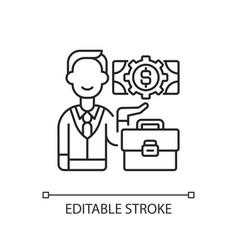 Businessman linear icon vector