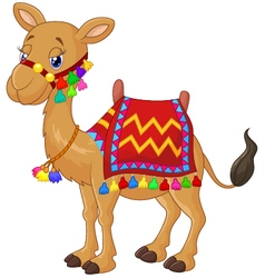 Cartoon decorated camel vector image