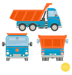 Cartoon transport dump truck vector