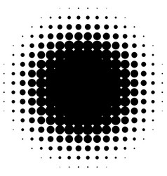 circle halftone element monochrome dotted vector image