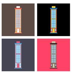 City skyscrapers buildings urban design vector