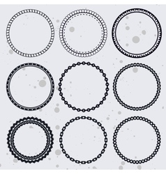 Collection with circle frames vector