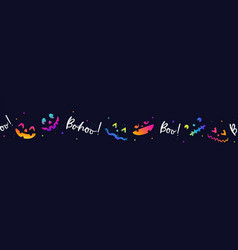 colorful and fun hand drawn halloween faces cute vector image