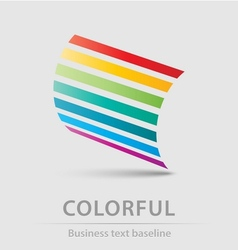Colorful business icon vector