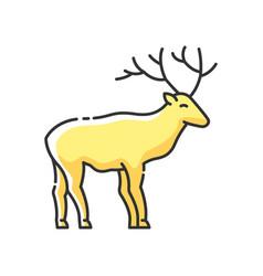 deer rgb color icon vector image