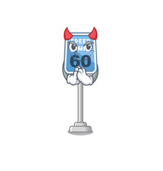 Devil speed limit isolated in mascot vector