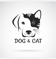 Dog and cat face design on a white background pet vector