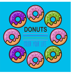 donuts logotype template vector image