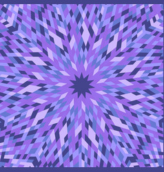 Dynamic hypnotic abstract colorful radial mosaic vector