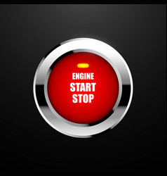 Engine start button vector