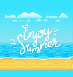 enjoy summer banner tropical background with vector image