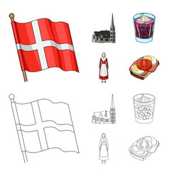flag national symbol and other web icon in vector image