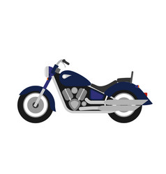flat style classic road motorcycle vector image