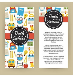 Flyer template of flat design back to school and vector