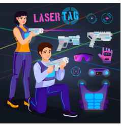 gamer in laser tag player character gaming vector image