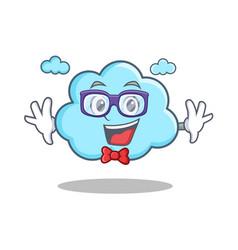 Geek cute cloud character cartoon vector