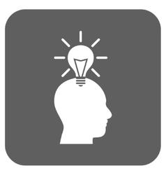 Genius Bulb Flat Squared Icon vector