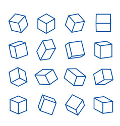 Geometric shapes platonic solid icon line vector