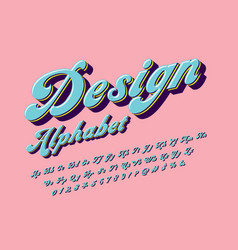 Groovy font vector