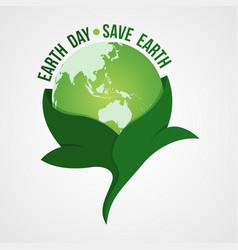 happy earth day logo design vector image
