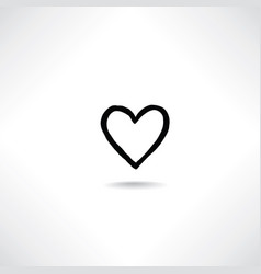 heart icon love sign valentines day greeting card vector image