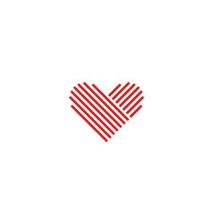 Heart logo medical red emblem design element vector image vector image