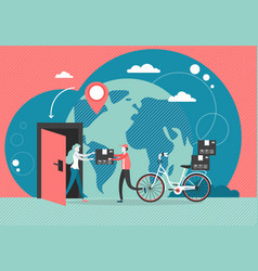 Home delivery service flat style design vector