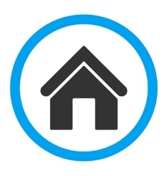 Home flat blue and gray colors rounded icon vector image