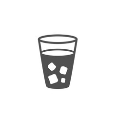 Ice tea simple icon soda drink sign vector