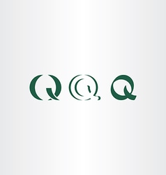 icons set letter q symbol logo elements vector image