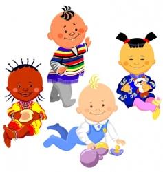 kids of different nationalities vector image
