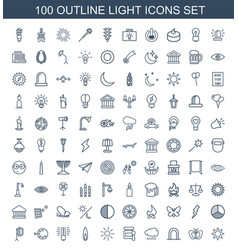 light icons vector image