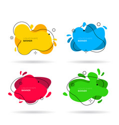 liquid colors shapes set graphic design elements vector image