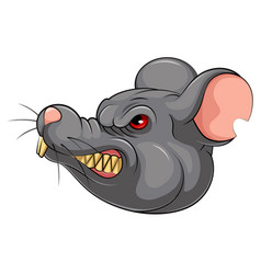 Mascot head an mouse vector