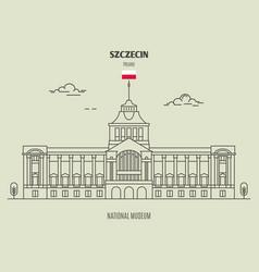 national museum in szczecin vector image