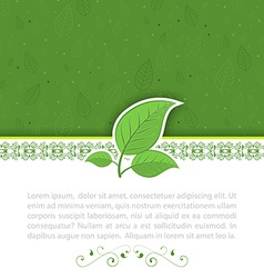 Natural concept green leaves vector