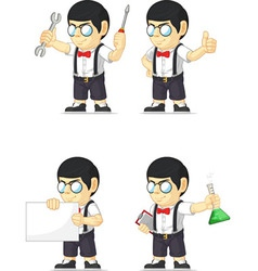 Nerd Boy Customizable Mascot 17 vector image