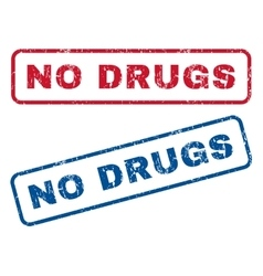 No Drugs Rubber Stamps vector image